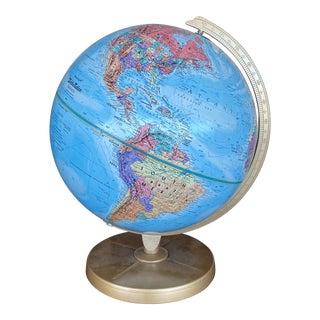 Vintage 1980s Replogle World Globe For Sale