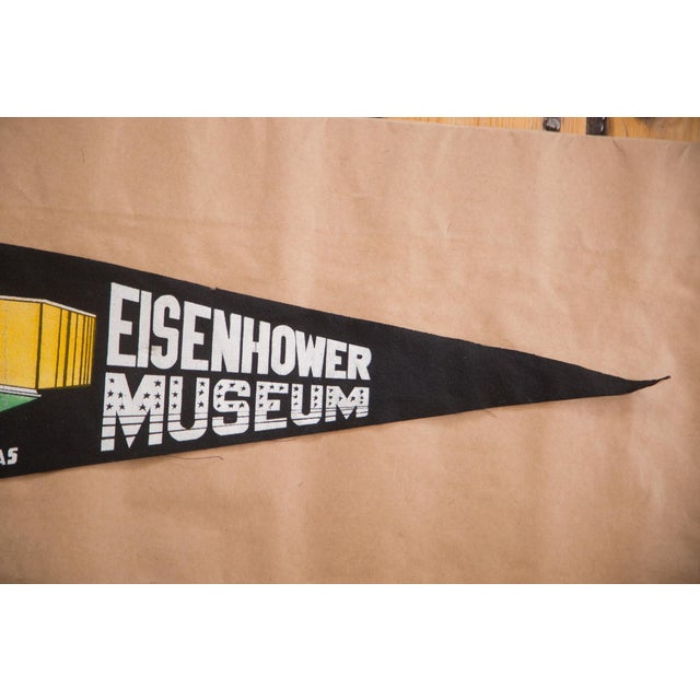 American Vintage Eisenhower Museum, KS Felt Flag For Sale - Image 3 of 3