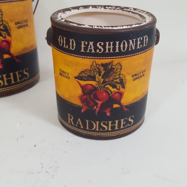 2010s Americana Radish Canister Containers - Set of 3 For Sale - Image 5 of 7