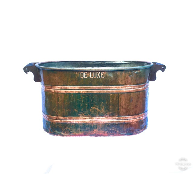 Late 19th Century Antique Copper Boiler De Luxe Wash Basin For Sale - Image 9 of 9