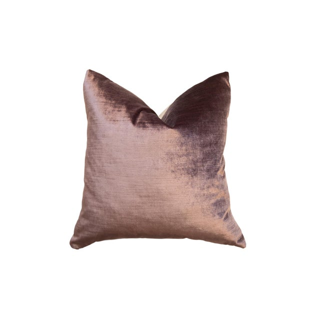 Made in Usa Luxe Velvet Throw Pillow For Sale - Image 9 of 9
