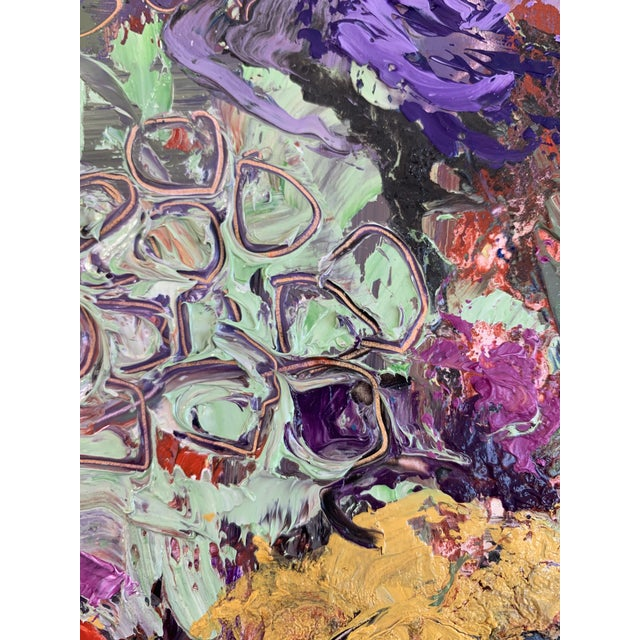 """""""Purple Perfection"""" a Modern Floral by Jj Justice For Sale - Image 4 of 10"""