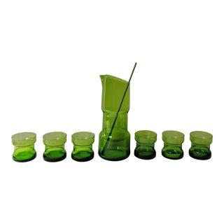 1960's Gunnar Ander for Lindshammar Martini Cocktail Set - 8 Pieces For Sale