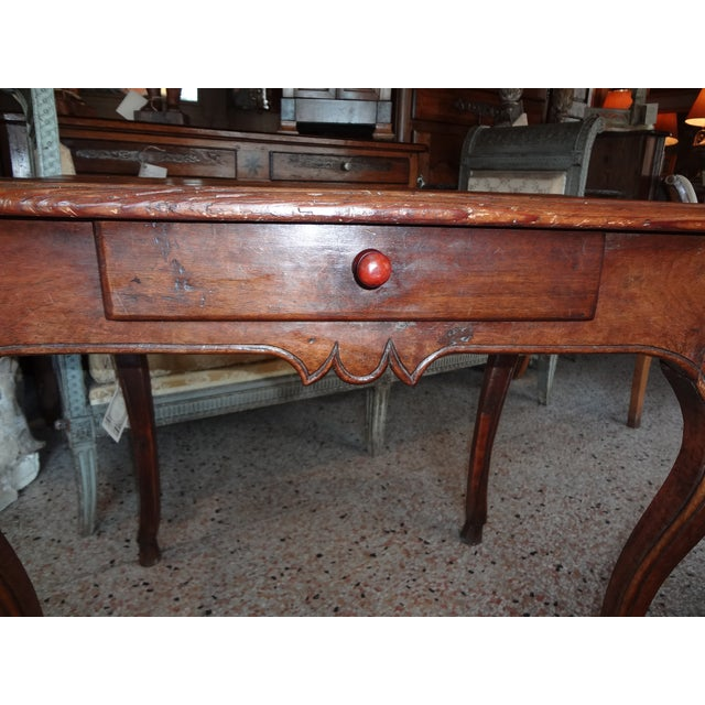 Louis XV Walnut Side Table For Sale - Image 4 of 11