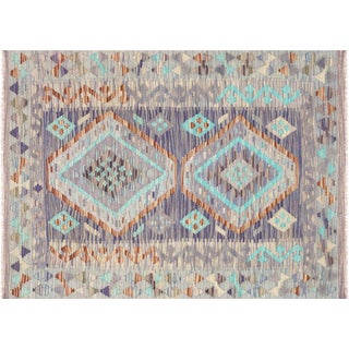 "Nalbandian - Contemporary Afghan Maimana Kilim - 3'5"" X 4'8"" For Sale"