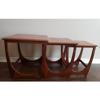 1960's Mid-Century Modern Victor Wilkins for G Plan Teak Astro Nesting Tables - Set of 3 Preview