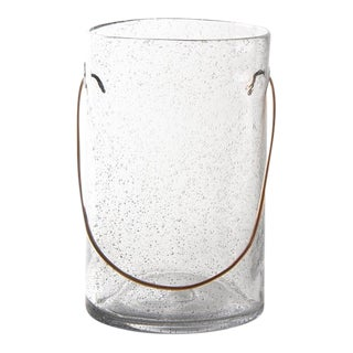 Kenneth Ludwig Chicago Bubble Glass Hurricane With Copper Handle For Sale