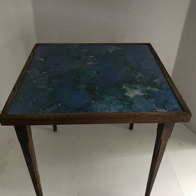 1960s Mid-Century Stacking Tables With Glass Tops - A Pair For Sale - Image 5 of 13