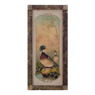 Victorian Duck Chromolithograph Print For Sale
