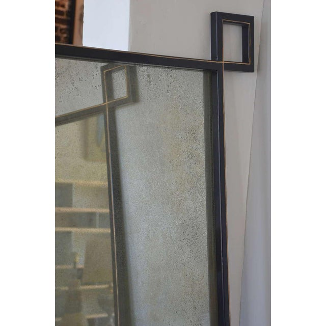 2010s Pair of Oversized 'Oxyde' French Industrial Mirrors by Design Frères For Sale - Image 5 of 8