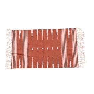 Saffron Rug, 6x9, Terracotta & White For Sale