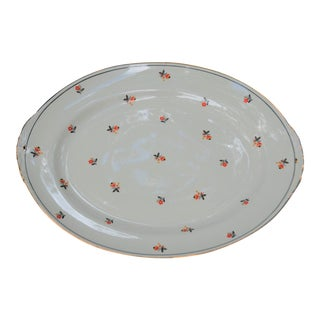 Vintage Eggshell Nautilus Serving Platter