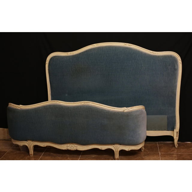 Fabric 20th Century French Louis XVI Style Bedframe For Sale - Image 7 of 7