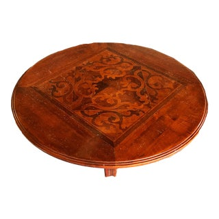 Vere Antichita Positano Round Inlay Pedestal Coffee Table by Artiltalia For Sale