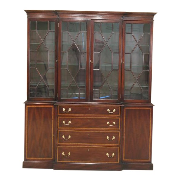 Kittinger Richmond Hill Collection Mahogany Breakfront For Sale - Image 14 of 14