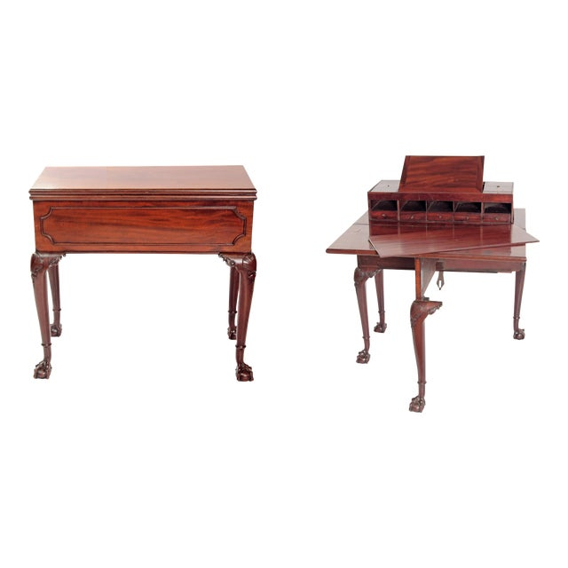 A George II Mahogany Harlequin Table For Sale