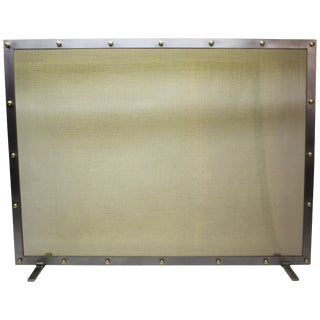 Modern Fireplace Screen by Jed Design For Sale