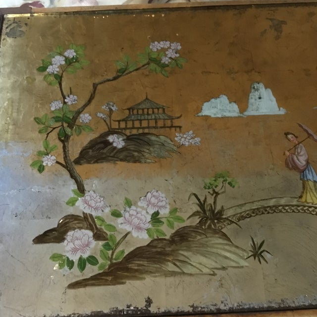 Glass 1920's Chinoiserie Coffee Table For Sale - Image 7 of 9