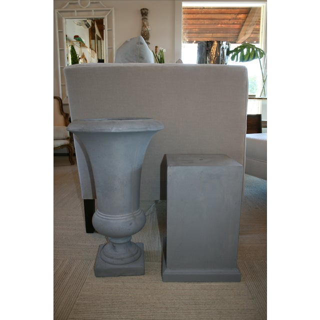 Westgate Urn & Pedestal - A Pair For Sale - Image 5 of 6