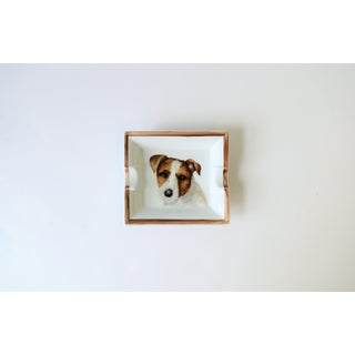 European Jack Russell Terrier Dog Ceramic Tray Vide-Poche or Ashtray Preview