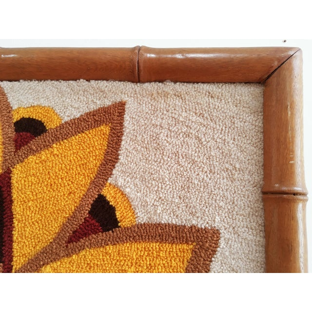 Luis Montiel Woven Rug Tapestry- 70s Botanical Textile Art For Sale In San Francisco - Image 6 of 9