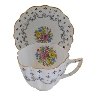 Vintage Victoria Porcelain Cup and Saucer