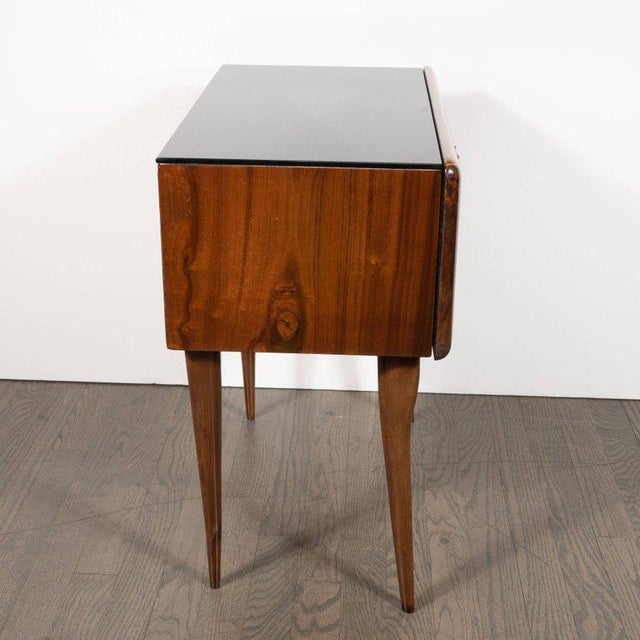 Pair of Mid-Century Italian Nightstands/End Tables in Exotic Bookmatched Wood For Sale - Image 11 of 12