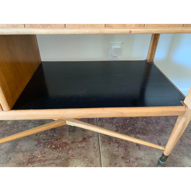 Brown Mid-Century Modern Scandinavian Sophisticate Bar Cart For Sale - Image 8 of 10