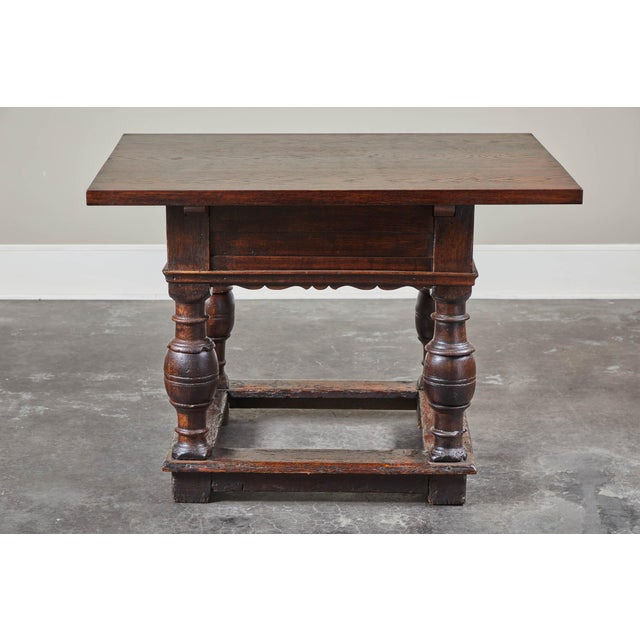 18th Century Danish Baroque Table With Turned Legs For Sale - Image 4 of 10