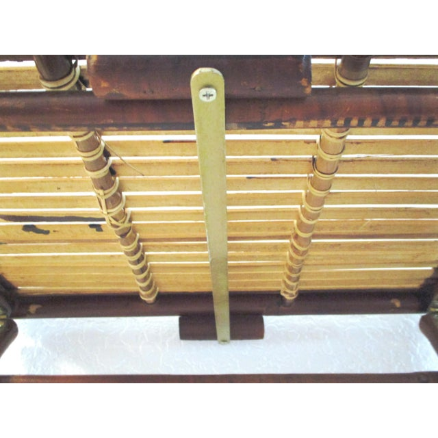 Bamboo 1970s Bamboo Folding Table For Sale - Image 7 of 10