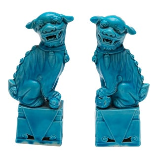 1960s Chinese Foo Dogs - a Pair