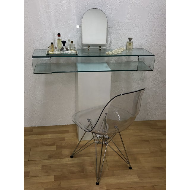 Contemporary Calligaris Italian Glass Floating Vanity or Shelf For Sale - Image 3 of 12