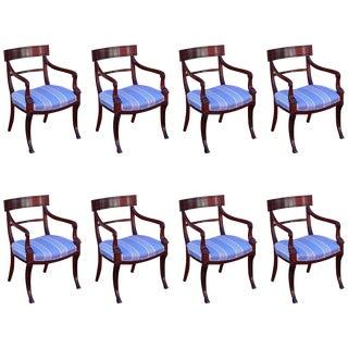 English Regency Mahogany Dinning Chairs - Set of 8