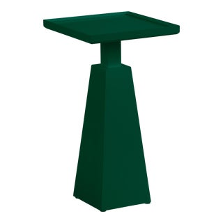 Casa Cosima Hayes Spot Table, Chrome Green For Sale