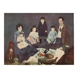 1948 Picasso Original La Famille Soler Lithograph For Sale