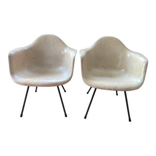 1950s Vintage Eames 2nd Generation Fiberglass Armchairs-A Pair For Sale
