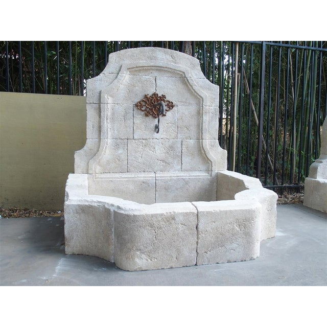 Carved Limestone Wall Fountain From the South of France For Sale - Image 9 of 11