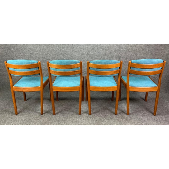 Danish Modern 1960s Vintage Poul Volther Danish Modern Oak Dining Chairs- Set of 4 For Sale - Image 3 of 11