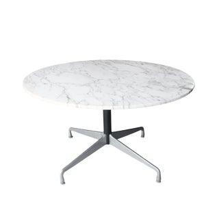 Marble Eames Aluminum Group Dining Table for Herman Miller For Sale