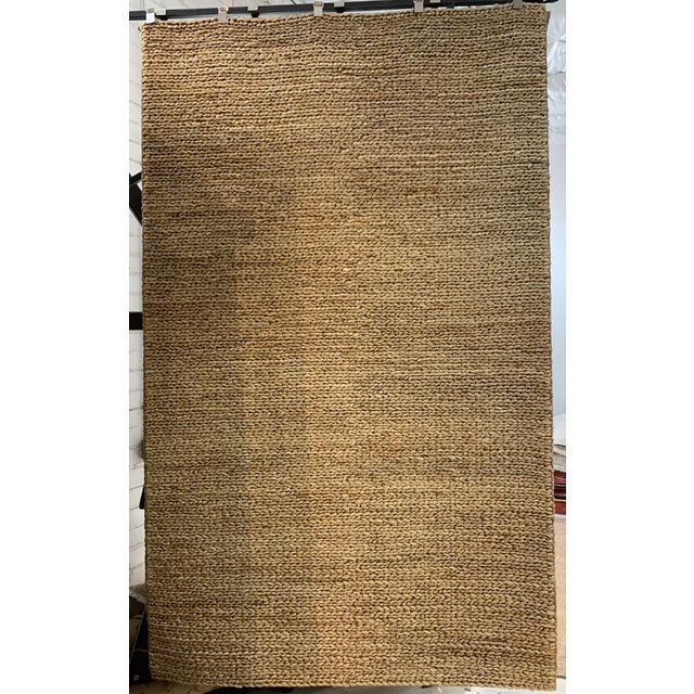 "Textile Hand Woven Jute Rug-5' X 8'3"" For Sale - Image 7 of 7"