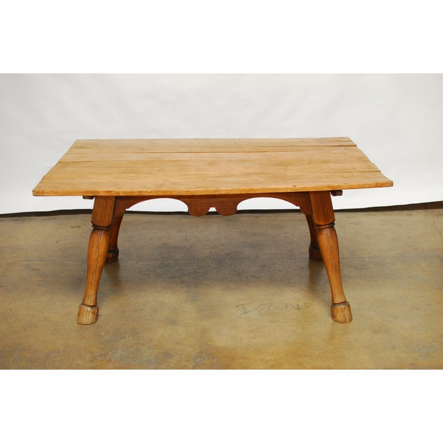 19th century english tavern table with horse legs chairish for Table th width