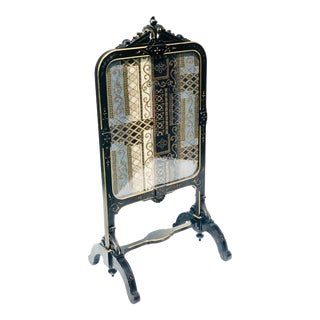 Antique Gilt Incised Victorian Firescreen For Sale