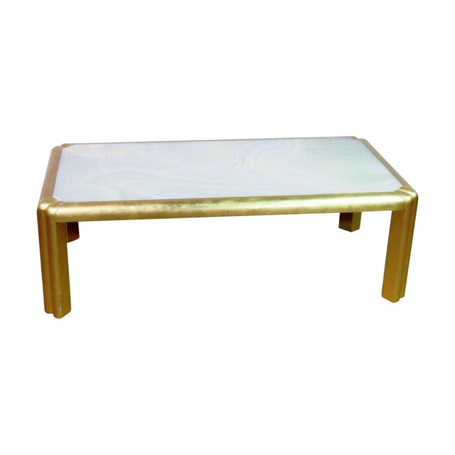 Giltwood Mid Century Hollywood Regency Style Coffee Table For Sale - Image 7 of 7