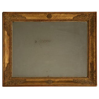 Petite All Original 18th C. Antq French Gilt Framed Sugar Mirror For Sale