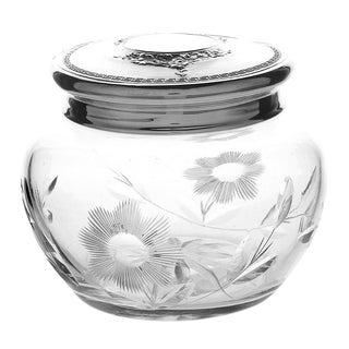 Vintage Webster Crystal Powder Jar For Sale
