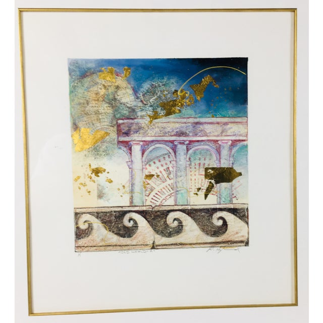 "20th Century ""Old World"" Watercolor Painting For Sale In Philadelphia - Image 6 of 6"
