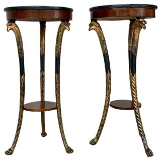 Pair of 19th Century Baltic Giltwood Eagle Motif Pedestals For Sale