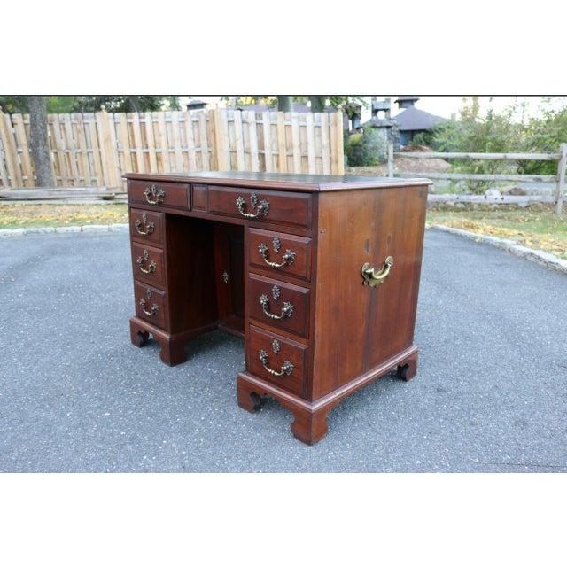 George III Mahogany Kneehole Desk - Image 3 of 11
