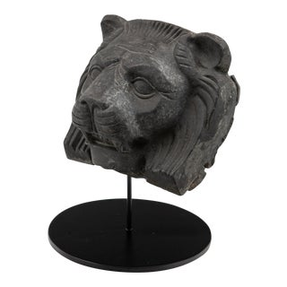 Early 20th Century Cast Metal Lion Head For Sale