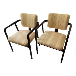 George Nelson Associates for Herman Miller Model 4663 Armchairs- A Pair For Sale